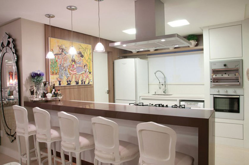 decoracao cozinha e area de servico integradas: 25 cozinha com mesa de vidro imagem 26 cozinha com mesa de madeira
