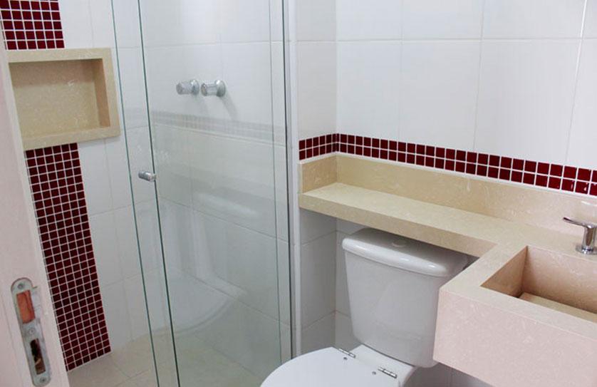Tendências e Ideias de Banheiros Decorados -> Banheiro Com Pastilhas No Vaso