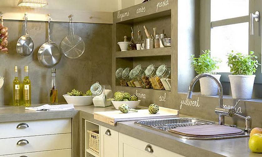 cozinha-pequena-com-cimento-queimado