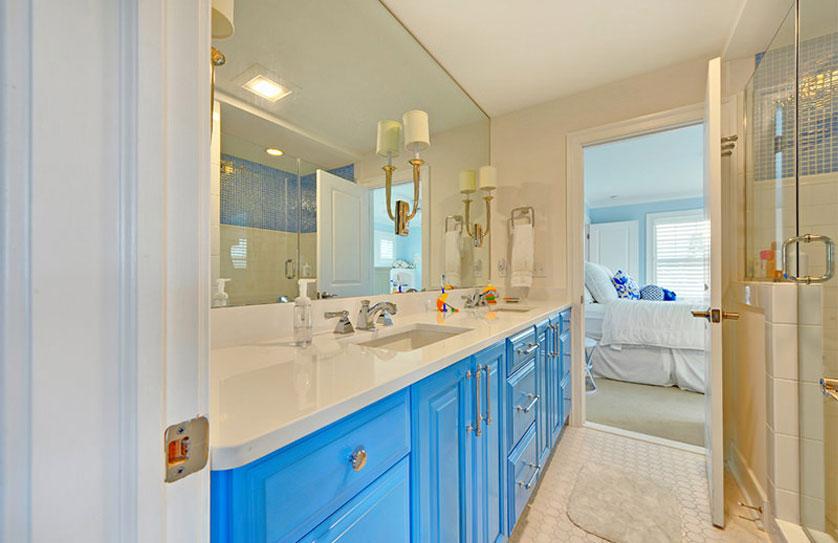 Tend ncias e ideias de banheiros decorados for Pisos pintados modernos