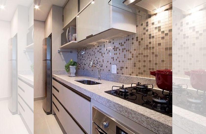 Cozinha Pequena 80 Inspirações de Decoração # Cozinha Simples Com Pastilha