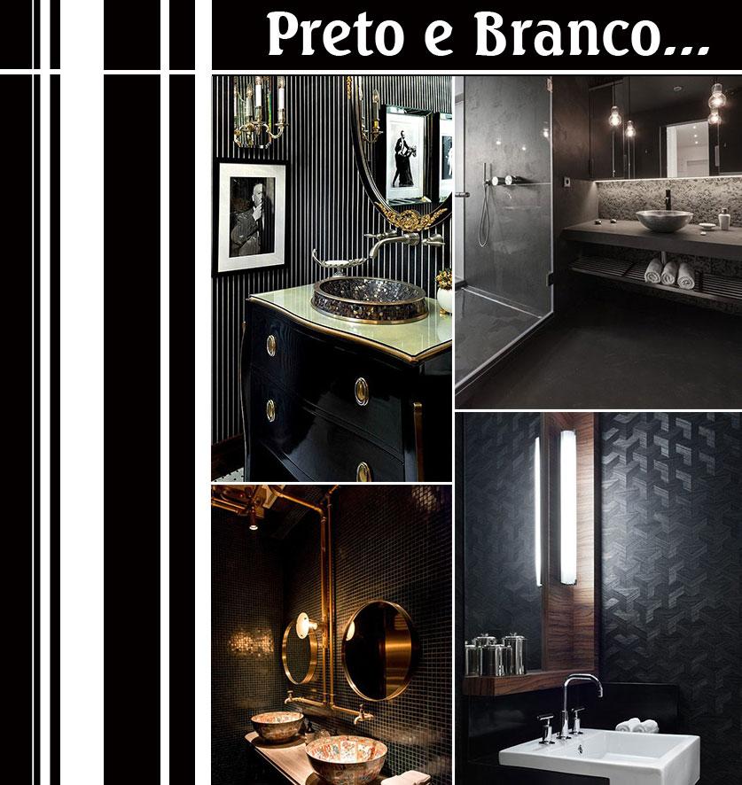Ideias Para Banheiro Preto E Branco : Banheiro decorado preto e branco liusn obtenha uma