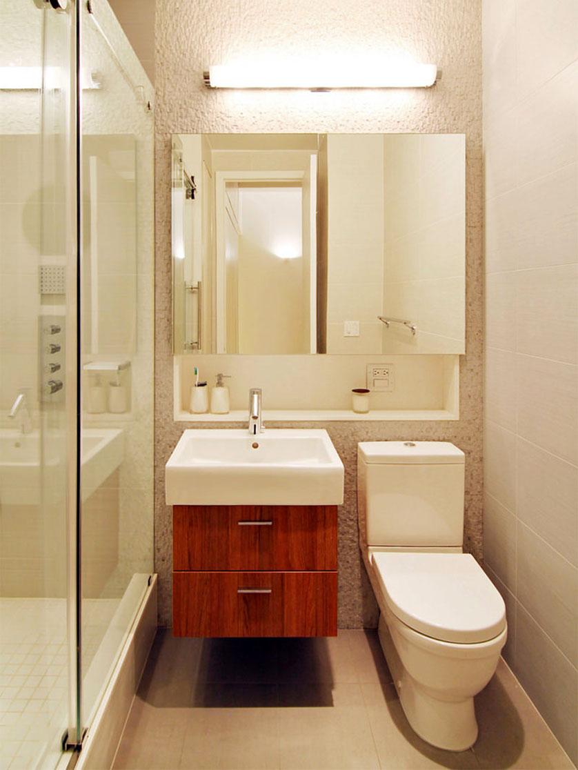 Tendências e Ideias de Banheiros Decorados -> Banheiro Pequeno Sofisticado