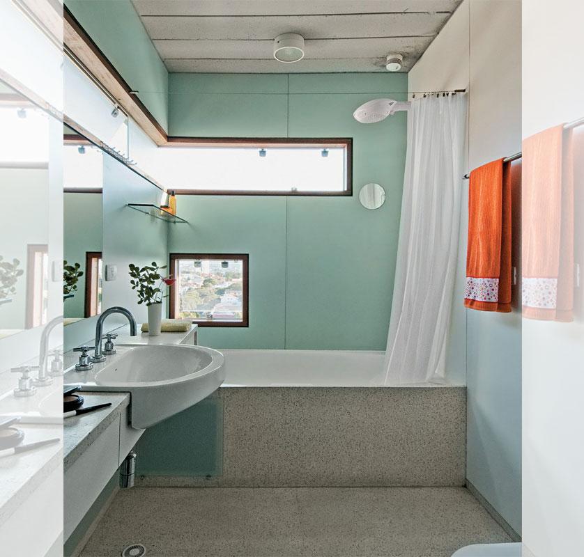 Tendências e Ideias de Banheiros Decorados -> Banheiro Pequeno Tinta