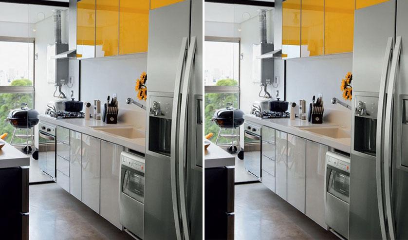 cozinha-pequena-com-armario-amarelo