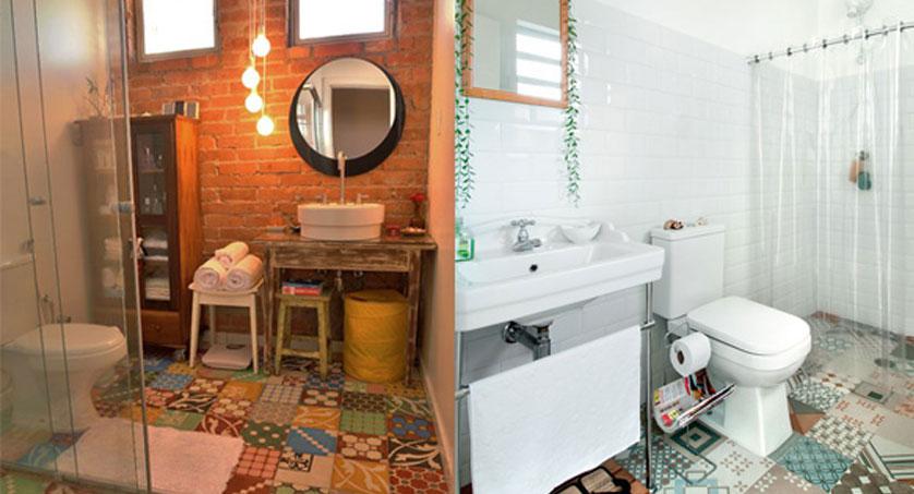 Ladrilho Hidraulico Piso Banheiro : Tend?ncias e ideias de banheiros decorados