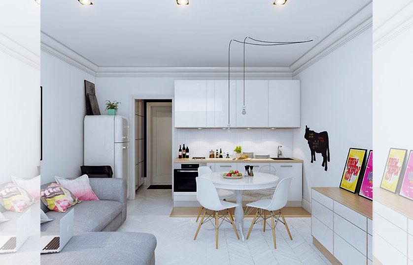 cozinha-pequena-com-cadeira-branca
