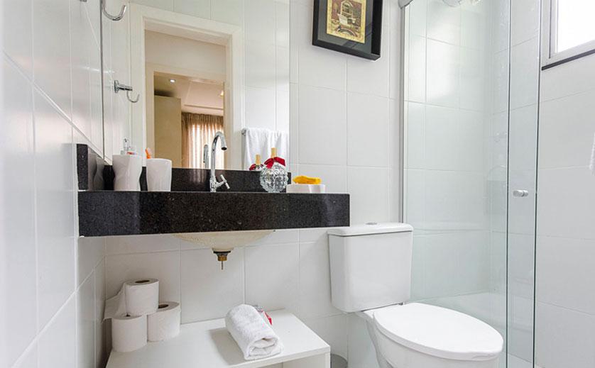 Tendências e Ideias de Banheiros Decorados -> Banheiros Claros Decorados