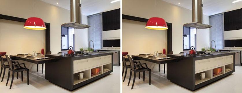 cozinha-com-pendente-vermelho