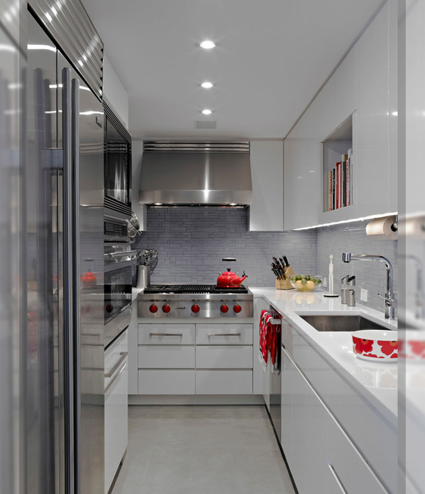 Cozinha Pequena 80 Inspira Es De Decora O ~ Cozinha Cinza Com Vermelho