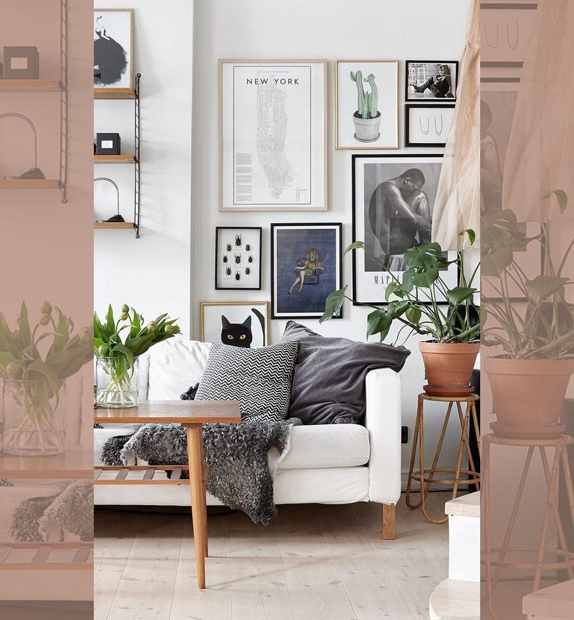 quadros decorativos com vários tamanhos