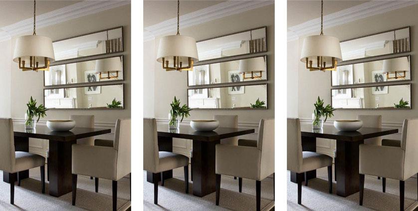 Decoraç u00e3o com Espelhos 15 Ideias inspiradoras -> Decoração De Sala De Jantar Com Espelho Redondo