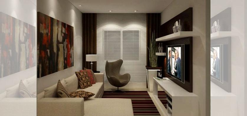 Sofa Pra Sala Pequena ~ decoracao de sala longaInspirações para Decoração de Sala Pequena