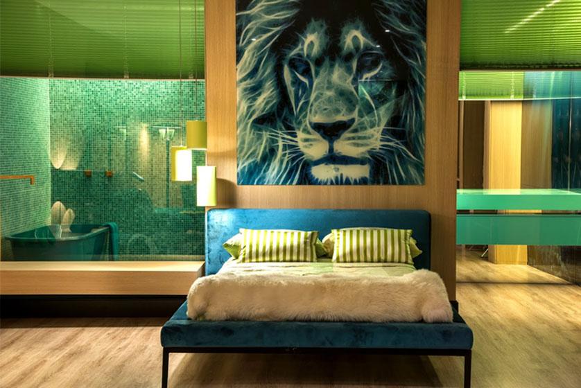 quarto com decoracao verde