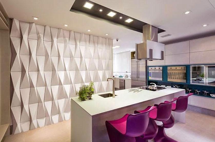 Como decorar a parede da sala crditos melhores ideias - Placas para decorar paredes ...