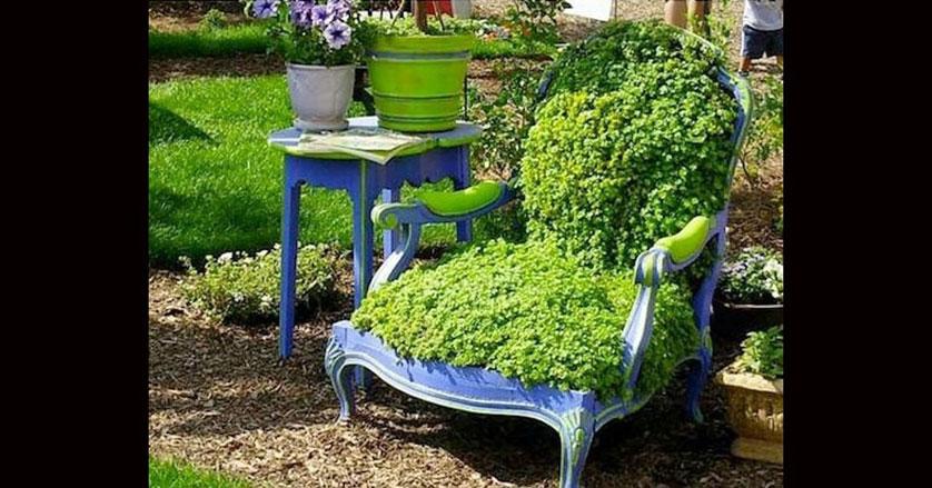 10 Dicas para Repaginar sua Decoraç u00e3o de Jardim # Decoração De Jardim Com Material Reciclavel