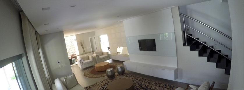 painel para tv com vidro