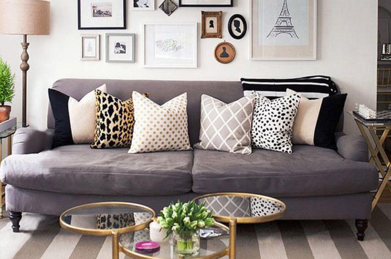 Capas de almofadas para decoração da sala de estar