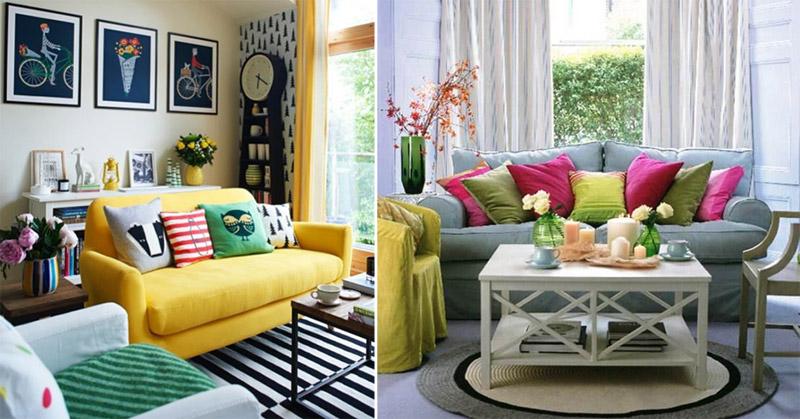 Sala De Estar Bem Simples ~ Capas de almofadas para decoração da sala de estar 01