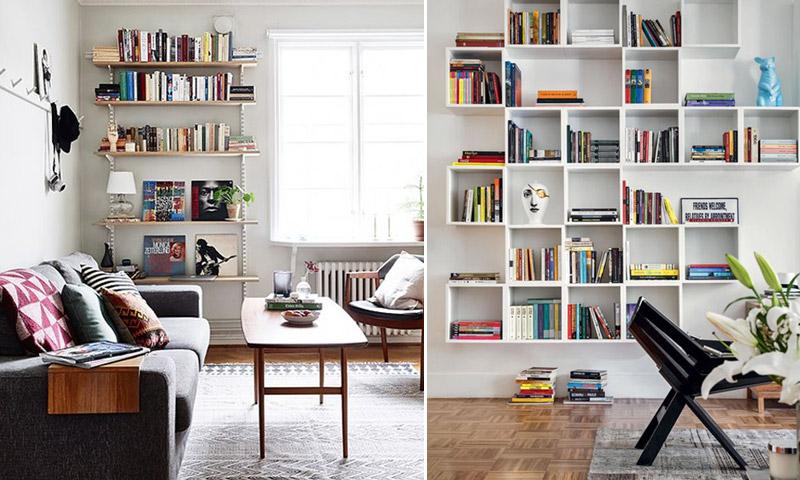 Sala De Estar Wdk Letra ~ Em prateleiras abertas o uso de aparadores de livros em formatos