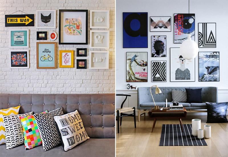 Quadros Na Parede Da Sala De Estar ~ da sala de estar sem gastar muito É uma forma criativa de