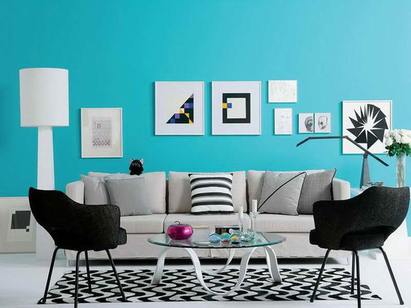 12 maneiras criativas para decora o da sala de estar for Decoracion salon gris y turquesa