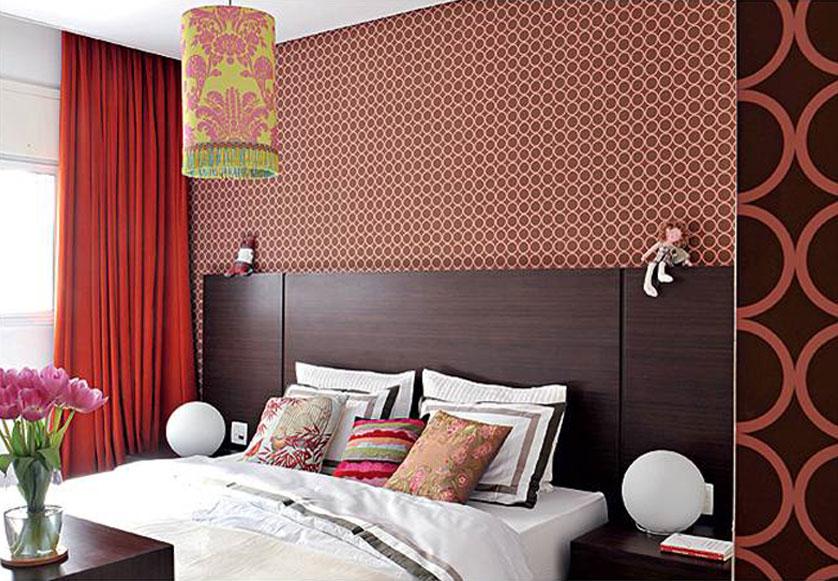 papel de parede de bolas marrom