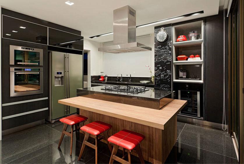 ... Image For Fotos de cozinhas com ilha central planejadas Dica da Net