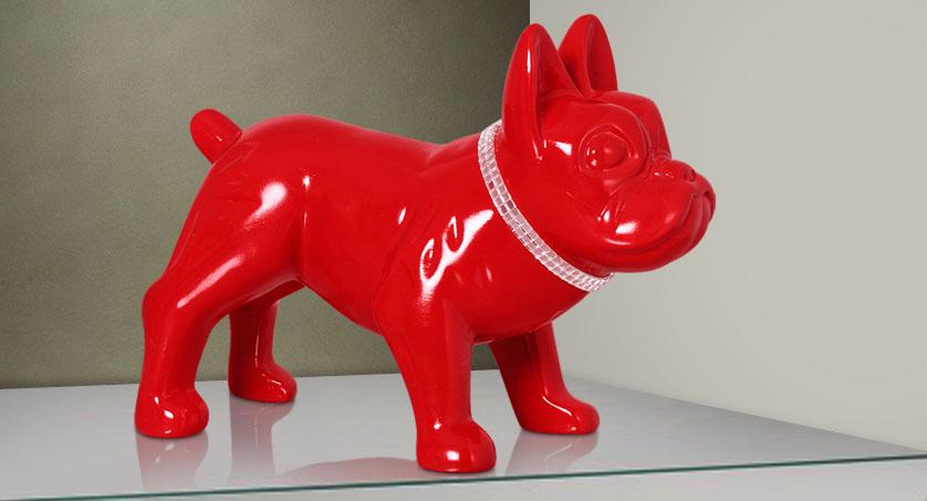 Cachorro Decorativo Vermelho