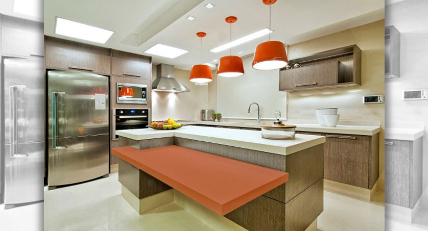 cozinha planejada com ilha central