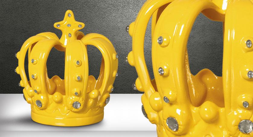 Coroa Amarela com Espelhos