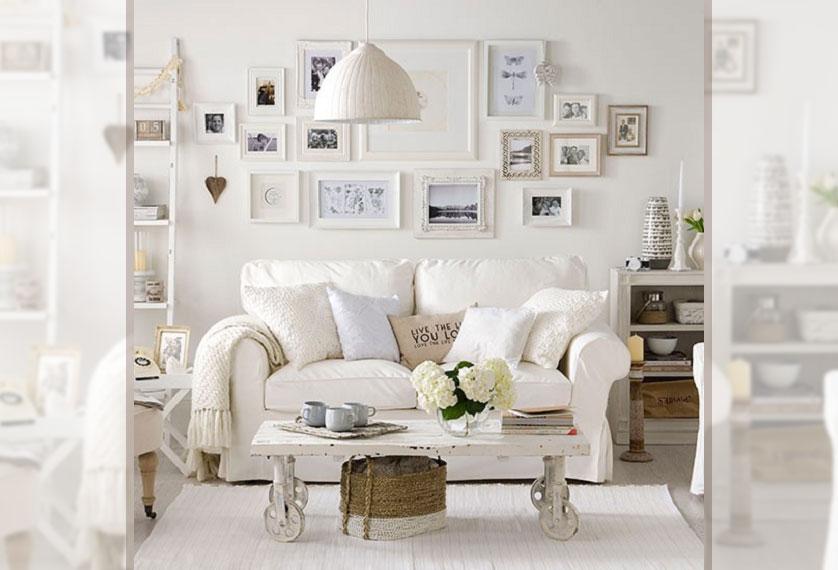 sala com parede branca