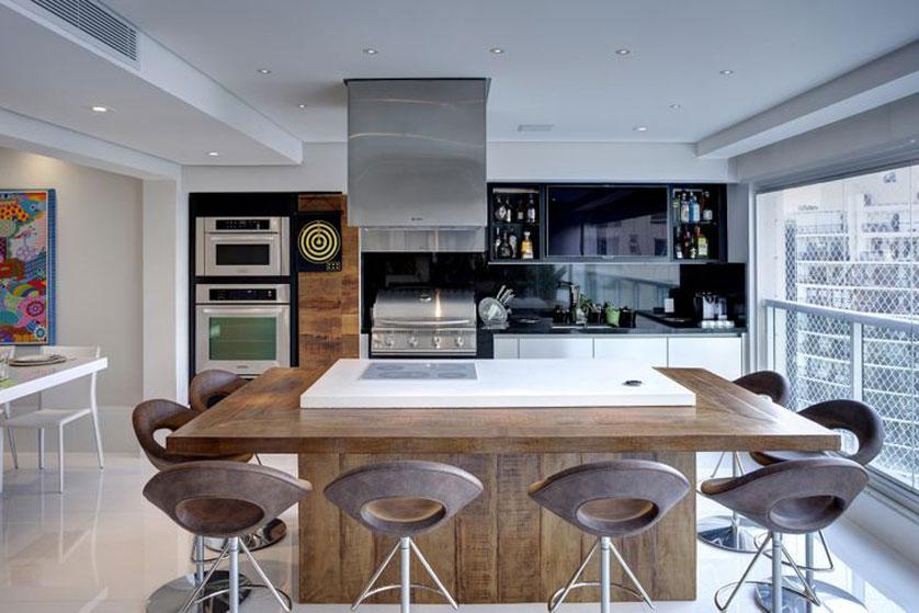 varanda e cozinha