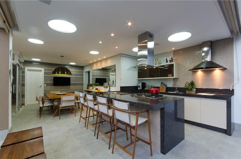 varanda e cozinha gourmet