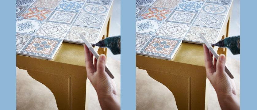decoração barata com azulejos