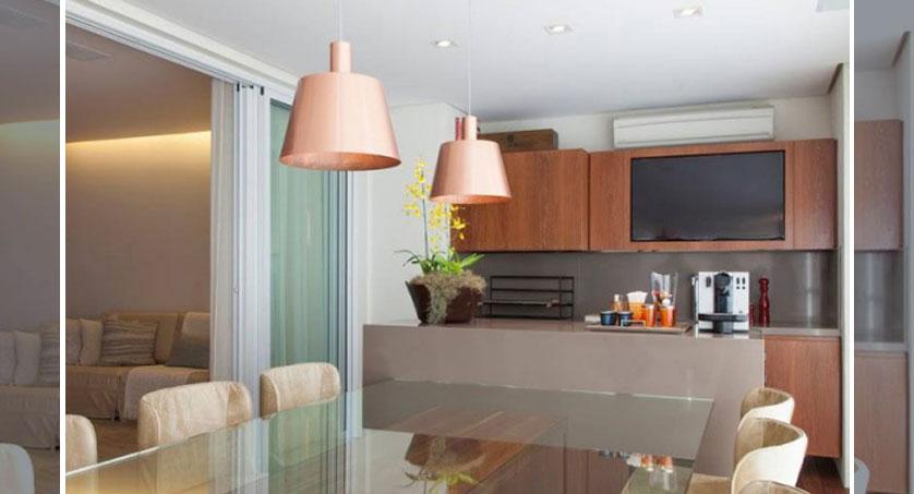 cozinha gourmet com tv