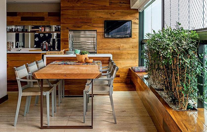 cozinha com varanda gourmet
