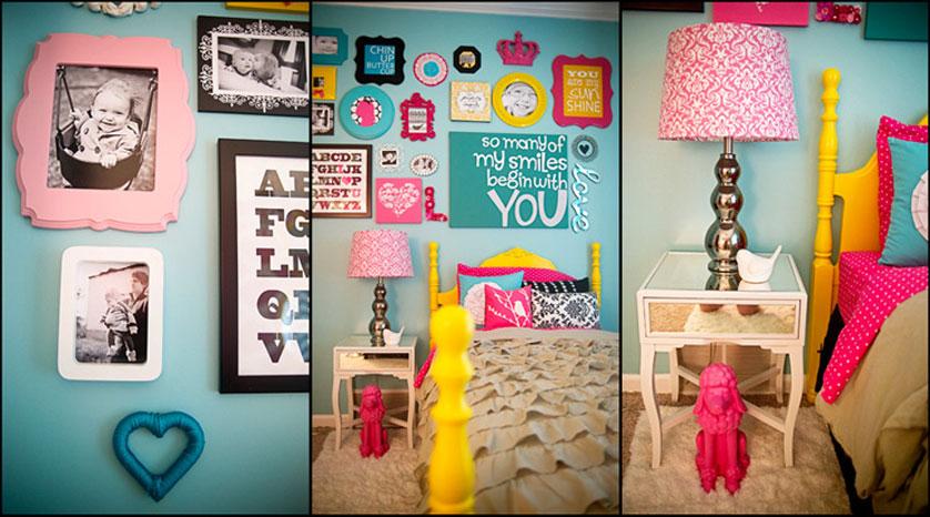 Decoração de quarto feminino vintage