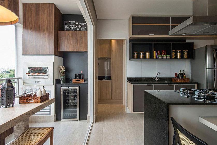 Varanda gourmet 8 ideias incr veis for Sala de estar gourmet