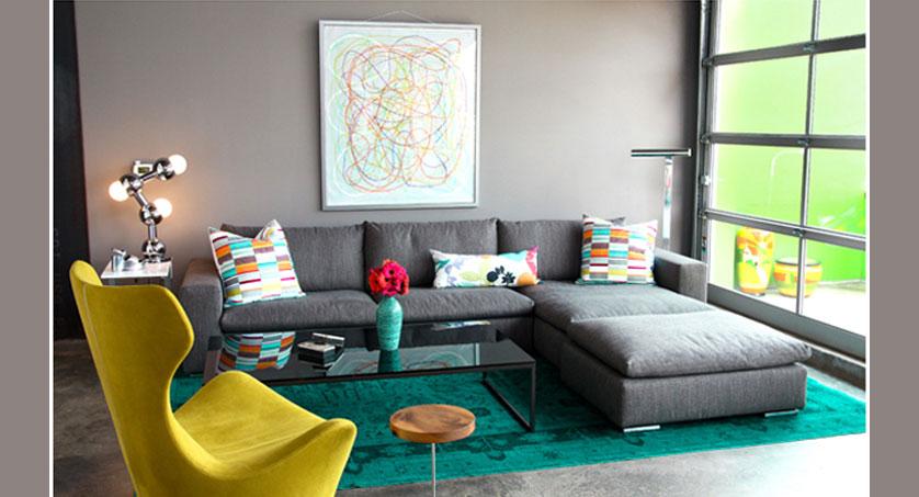 Sala De Tv Parede Cinza ~ Cores para sala 8 Sugestões  Cerâmica Burguina