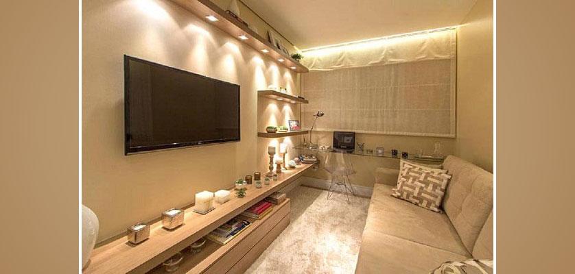 sala com parede nude
