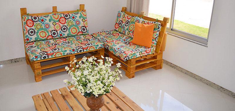 Artesanal Jardim Goias ~ Sofá de Palete Como fazer em sua casa Cer u00e2mica Burguina