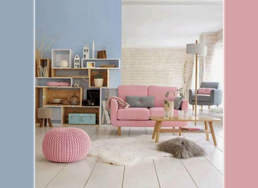 ambiente rosa e azul