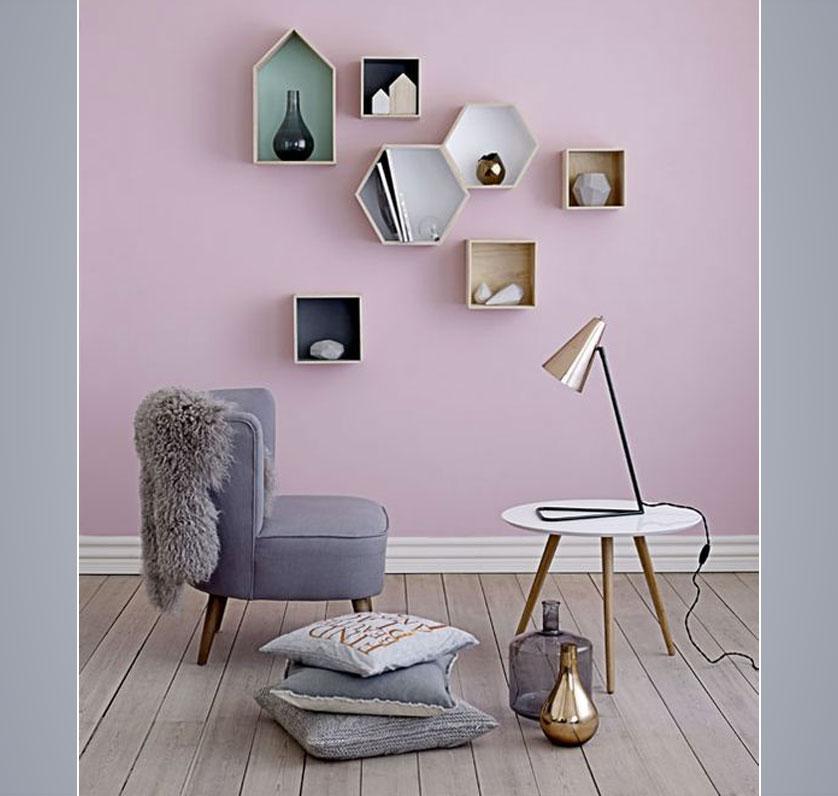 parede lilás