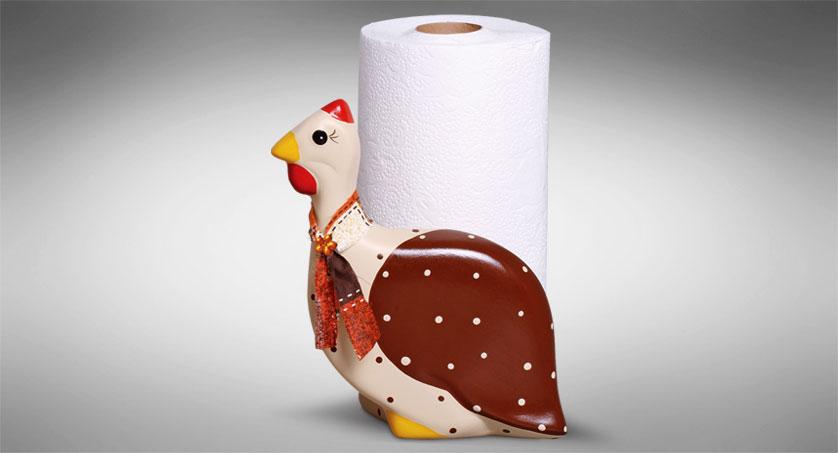 porta-guardanapo de galinha