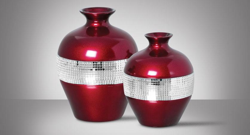 par de vasos espelhados vinho