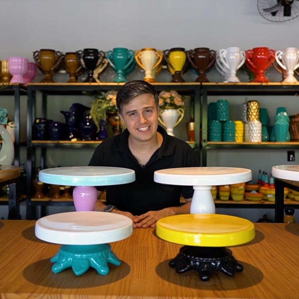 boleiras em cerâmica