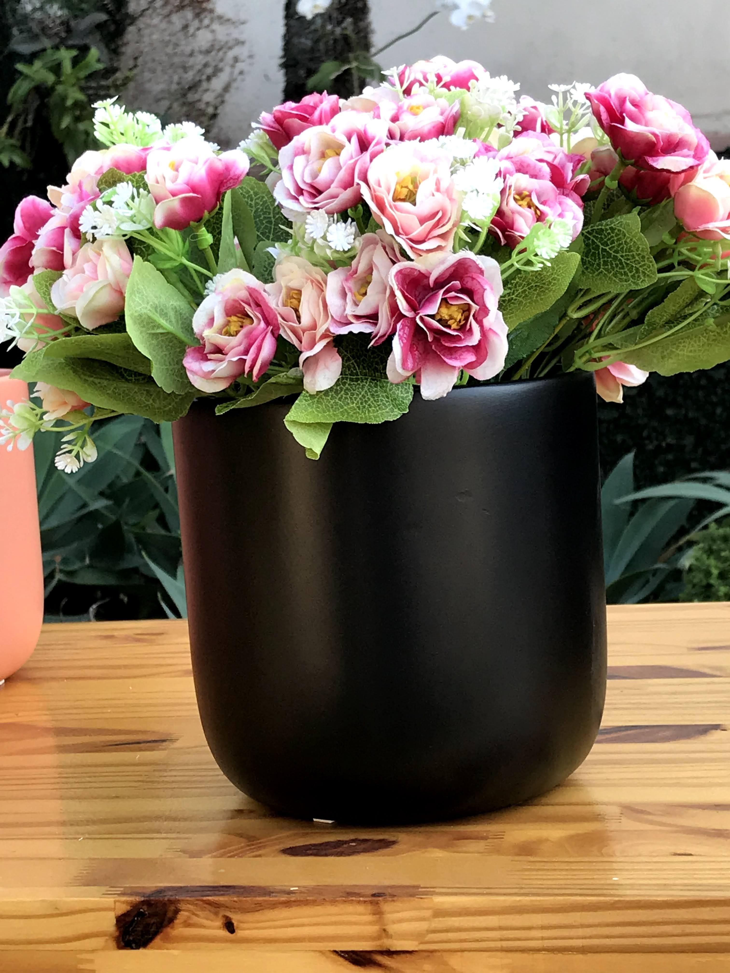 Cachepot para arranjos de orquídeas - Cerâmica Burguina